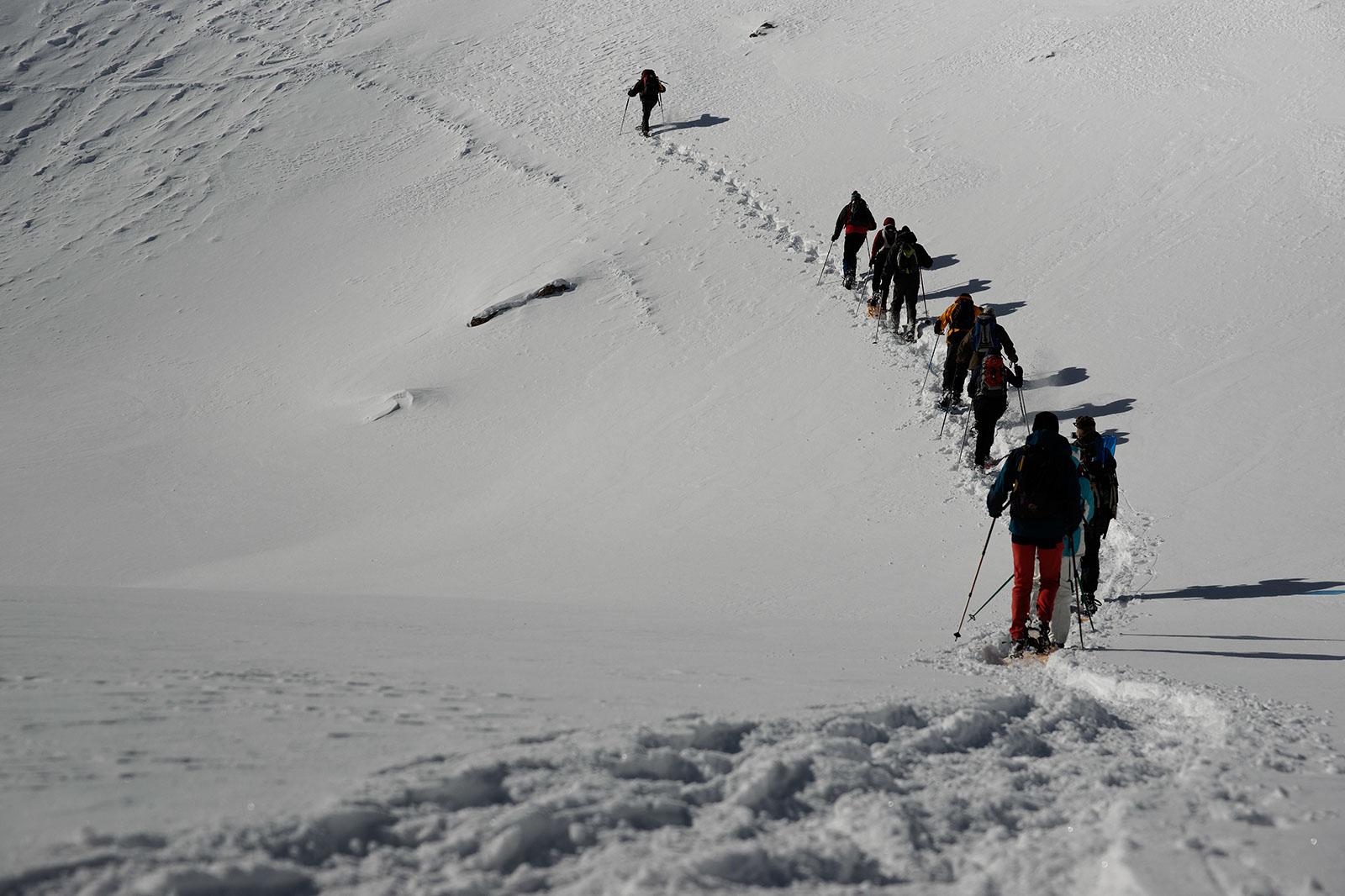 Snow shoes, Les Ecrins, February 2011